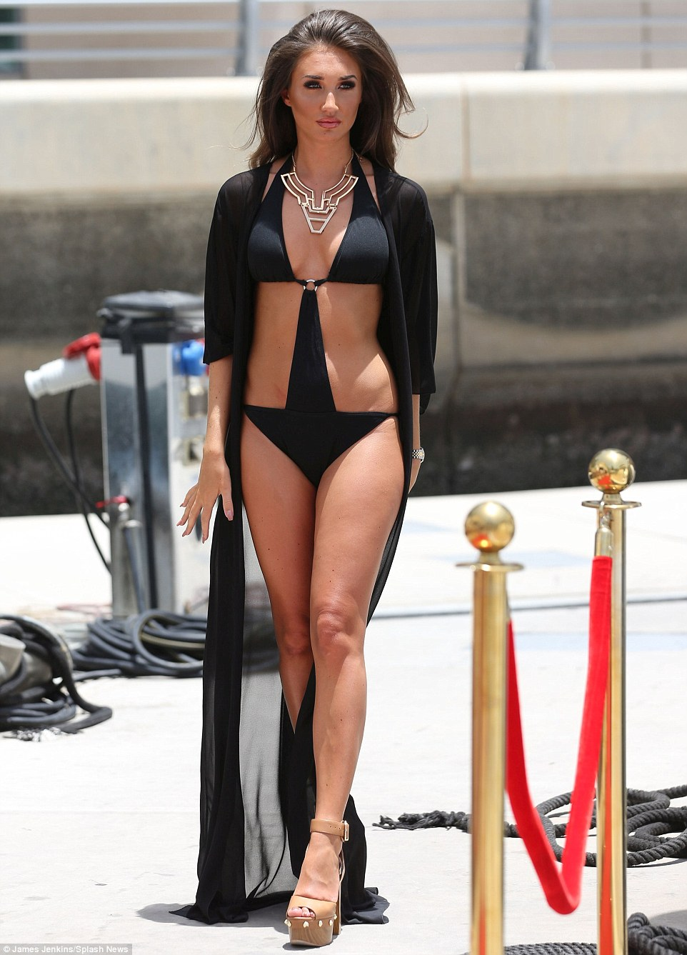 TOWIEs Megan McKenna Sizzles In A Skimpy Black Swimsuit
