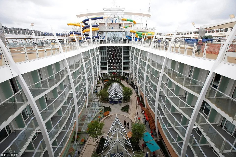 Harmony of the Seas, the widest cruise ship ever built, boasts 18 decks in total, with 16 dedicated to passenger staterooms and suites
