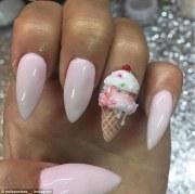 ice cream nail art instagram