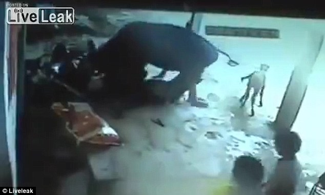 Las imágenes de video capturaron el increíble momento en que una vaca trató de detener a los matones apuñalando a la joven india hasta la muerte en 'asesinato de honor'