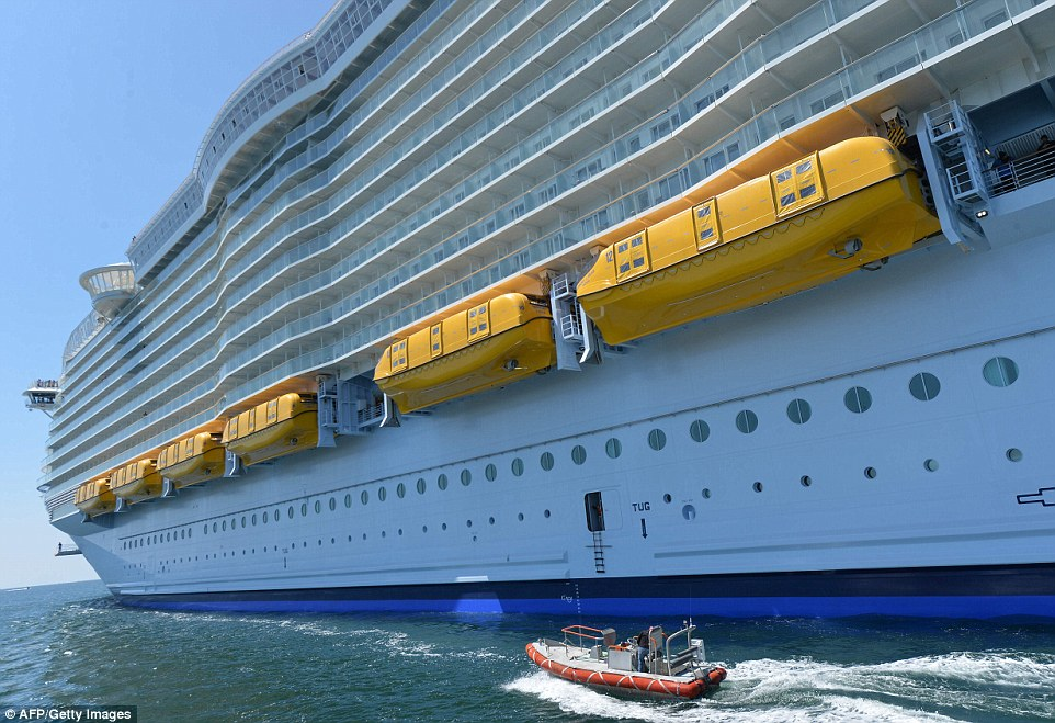 The gigantic cruise ship was ordered in December 2012 and was built for Royal Caribbean at a cost of more than £800million