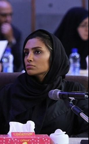 Elham Arab was interrogated on camera at the Iranian Revolutionary Court
