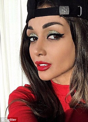 Pictured, Elnaz Golrokh,  a professional makeup artist who has 638,000 followers
