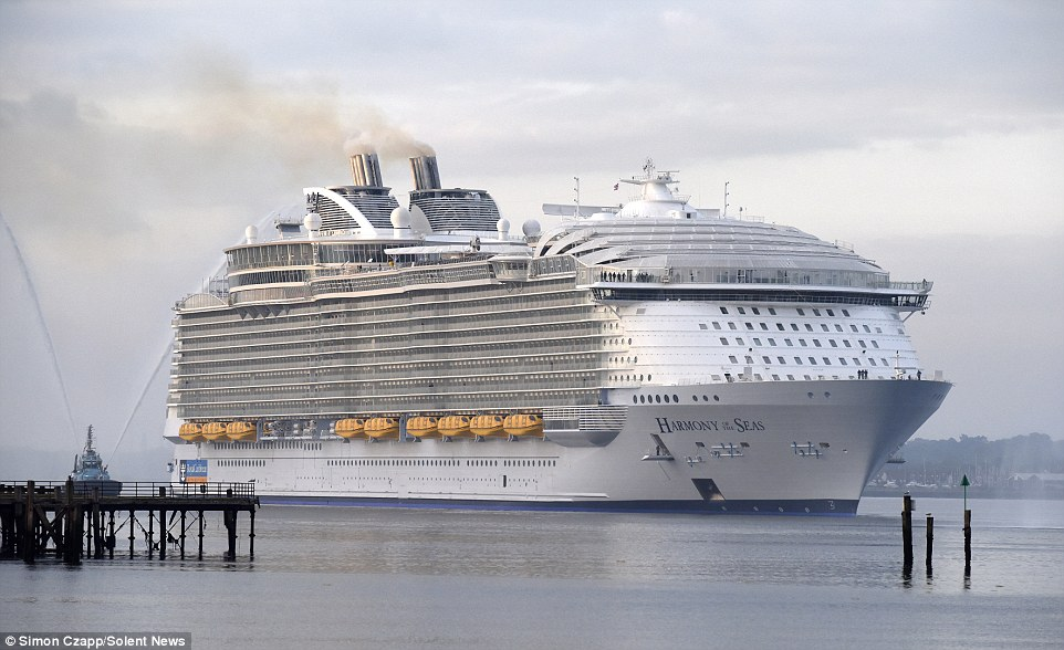 Harmony of the Seas will make its maiden voyage on Sunday – a four-day taster cruise to Rotterdam, in the Netherlands, and back