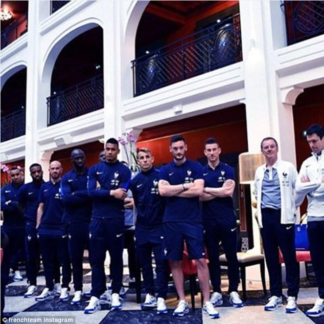 Tottenham goalkeeper Hugo Lloris leads the focused looking players in a moody looking Instagram snap