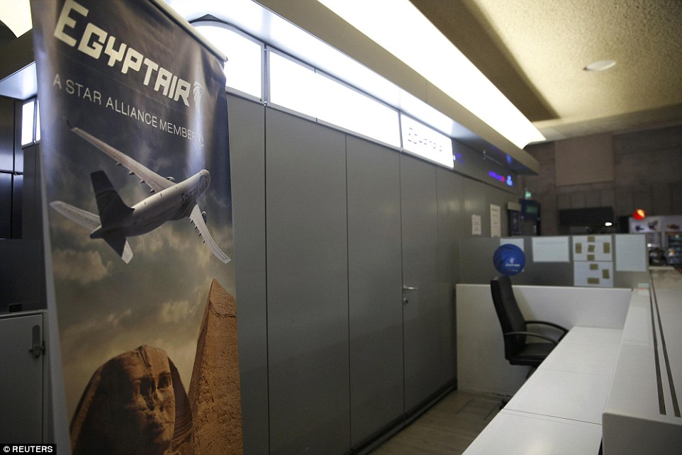 The EgyptAir counter at Charles de Gaulle was empty first thing this morning after reports of the plane's disappearance began to surface