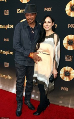Expecting! Terrence Howard will be a father for a fifth time as Mira Pak, the mother of his one-year-old son Qirin, showed off her blossoming belly at an Empire event in LA on Friday night