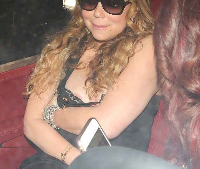 Flashing The Flesh Mariah Carey Exposed Her Assets On Saturday As She Suffered An Embarrassing