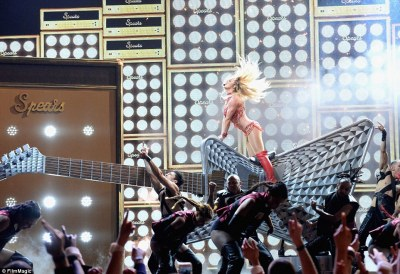 Rocking out:Britney was not done there, taking fans way back to her Crossroads days, performing a cover of the song made famous by Joan Jett, I Love Rock 'n' Roll