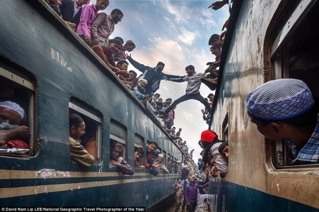 David Nam submitted this lively shot of youngsters having fun on the roof of two trains. He said the scene, at Tongi train station, captured the vast number of people who rush home after the festival of Bishwa Ijtema in Bangladesh