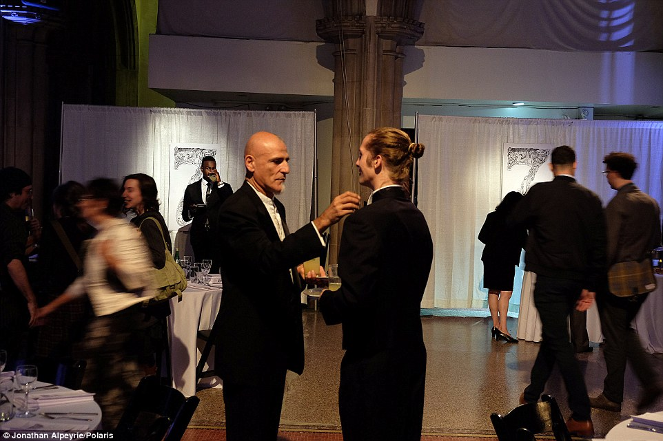 Moment of bliss: The pair enjoy a rare minute alone during a black tie party in Manhattan's Upper East Side in October, 2015