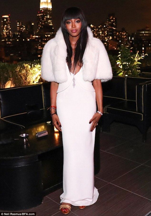 Extravagant: Posing in a white faux fur, everything about Naomi's birthday was said to have been extravagant