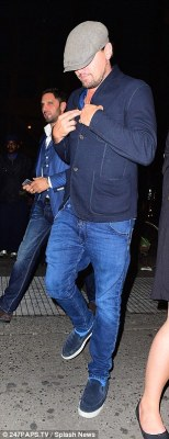 Party pals: On Tuesday night Rihanna, 28, and Leonardo DiCaprio, 41, were back together on the New York party scene, hitting the same Big Apple club