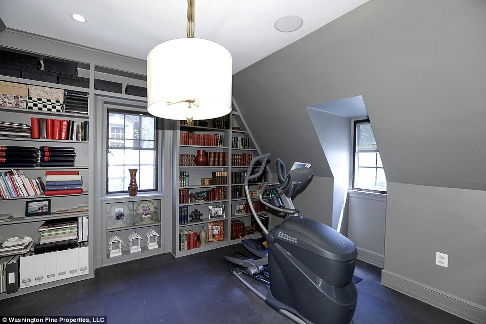 Exercise space: Both the Obamas are known for keeping fit and are likely to take advantage of the exercise room on the upper floor