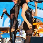 The Veronicas Pose In Nothing But Glittering Purple Paint For Their Art Cover