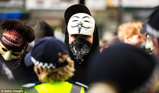 Police made seven arrests amid the violent scuffles with two people arrested for riotous behaviour, one for assaulting a police and one for hindering police, while one was arrested for robbery