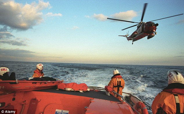 A search and rescue helicopter was deployed as well as lifeboats from nearby Dungeness and Littlestone, and coastguard rescue teams from Dungeness and Folkestone (stock photo)