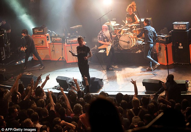 90 people were killed at the Bataclan concert hall where American rock group Eagles of Death Metal (pictured) were performing on stage