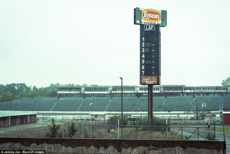 Pictures show the slow decline of an deserted NASCAR track in North Carolina | Daily Mail Online