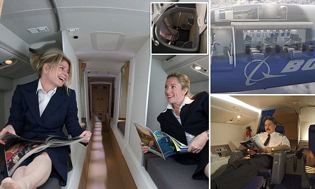 Inside the Crew Rest Compartments where flight attendants