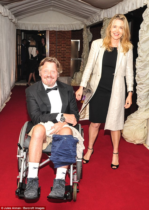 wheelchair motor salon chairs in delhi charley boorman attends the sport hall of fame a with wife olivia | daily ...