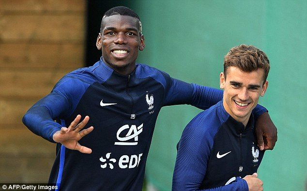 Image result for pogba griezmann martial