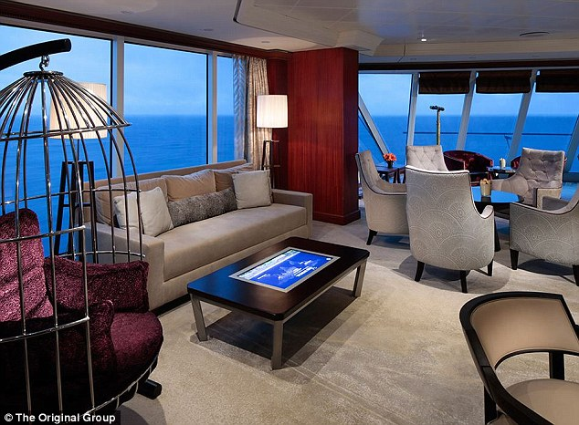 Stylish: The luxury cruise is for couples only and clothing is strictly optional on the saucy vacation