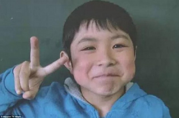 Seven-year-old Yamato told rescuers who found him he was hungry before wolfing down rice balls and bread