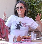 demi moore shows greying
