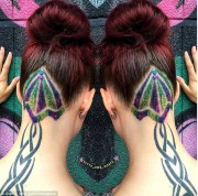 glitter hair tattoos latest