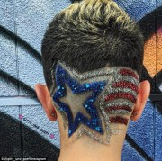 glitter hair tattoos latest