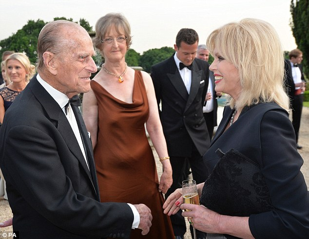 Image result for prince philip and joanna lumley