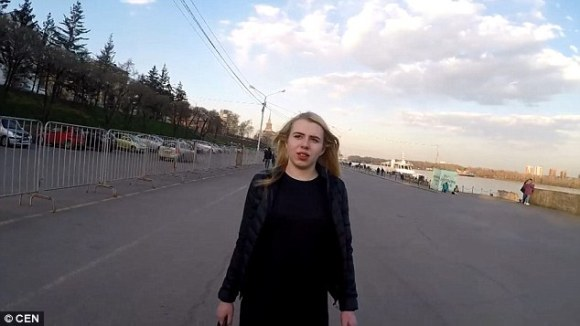 Ksenia, the pretty young blonde willing to strip to her underwear and cover herself in engine oil in return for a new iPhone