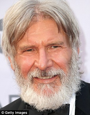 harrison ford s shows off scruffy overgrown beard at afi gala in la daily mail online