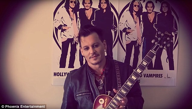On tour: Johnny appeared in a video promoting his band Hollywood Vampires' tour in Europe, and has now jette off to his private island in The Bahamas