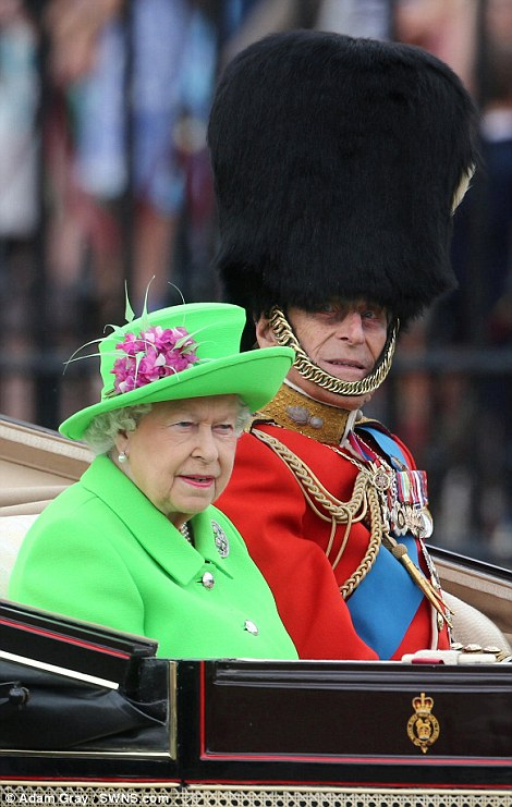 Prince Philip wore a large busby