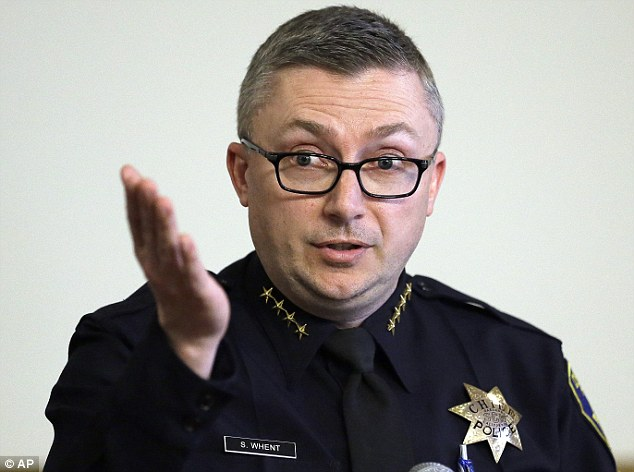 Resigned: Oakland police chief Sean Whent (pictured) resigned Thursday after 14 of his officers - including O'Brien, whose suicide note last September started the investigation - were revealed to have slept with Guap