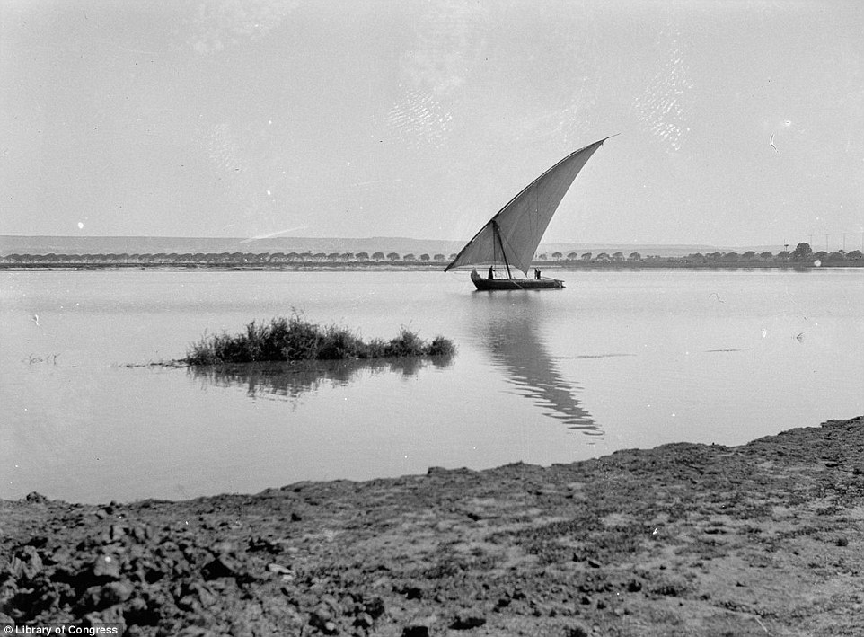 This image, taken in 1939, shows a felucca boat sailing down the Nile - a sight that can still be seen today