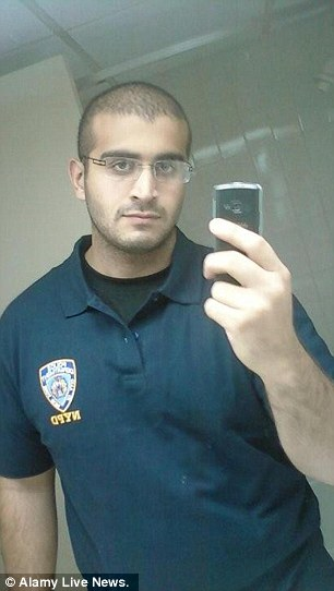 Killer: Omar Mateen (pictured) killed 49 and injured dozens more Sunday morning when he opened fire in gay club Pulse. His father said he was homophobic, but mounting evidence suggests he was gay and in the closet