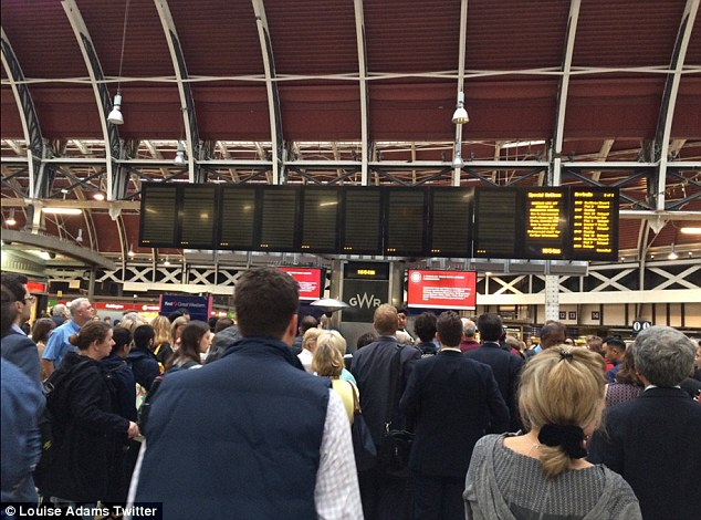 Thousands of passengers faced long delays after the train  derailed on its approach to Paddington