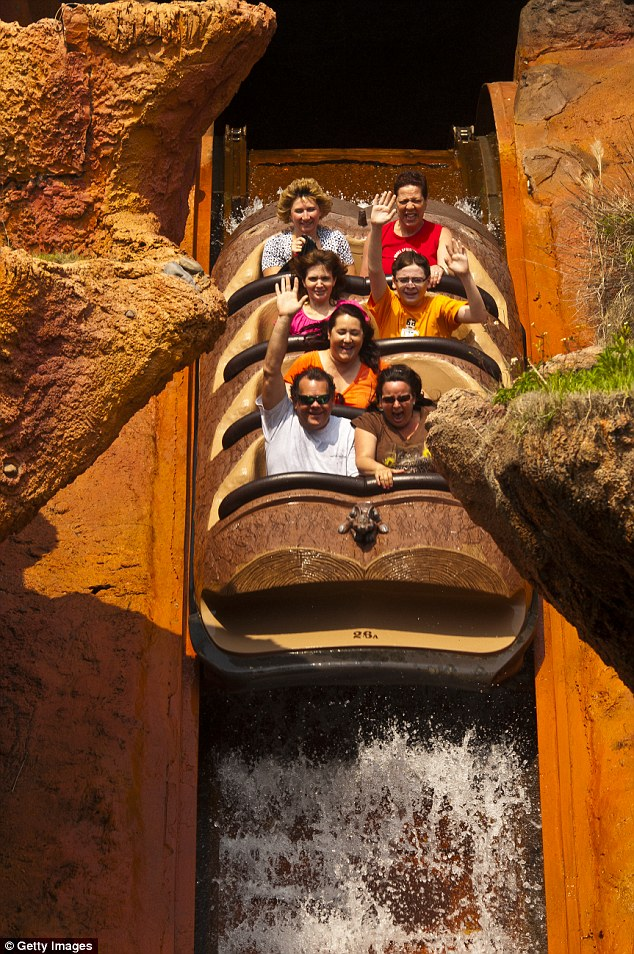 Splash Mountain (file picture) is located in the Magic Kingdom at the Walt Disney World Resort in Orlando, Florida. Disney employees have said they complained about guests feeding gators in the past
