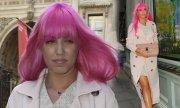 amber le bon's hot pink hair '