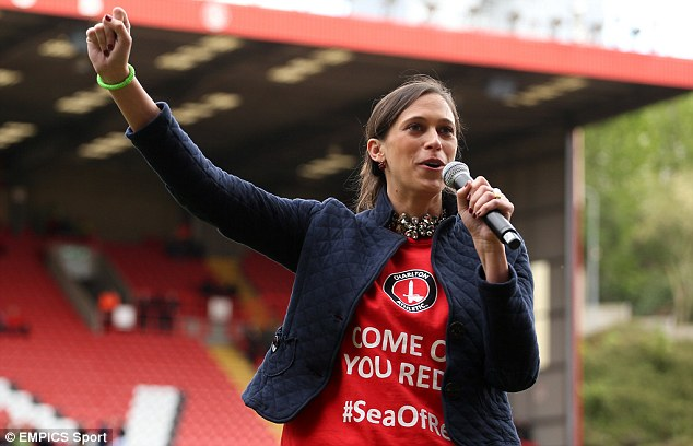 Katrien Mier claimed that a potential takeover bid would see Charlton Athletic leave their stadium The Valley