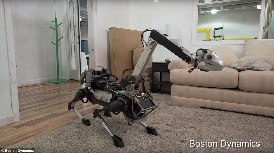 Previous versions of the robot have an extendable neck and was shown helping around the house