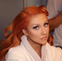 Christina Aguilera shows off red hair on Instagram ahead ...