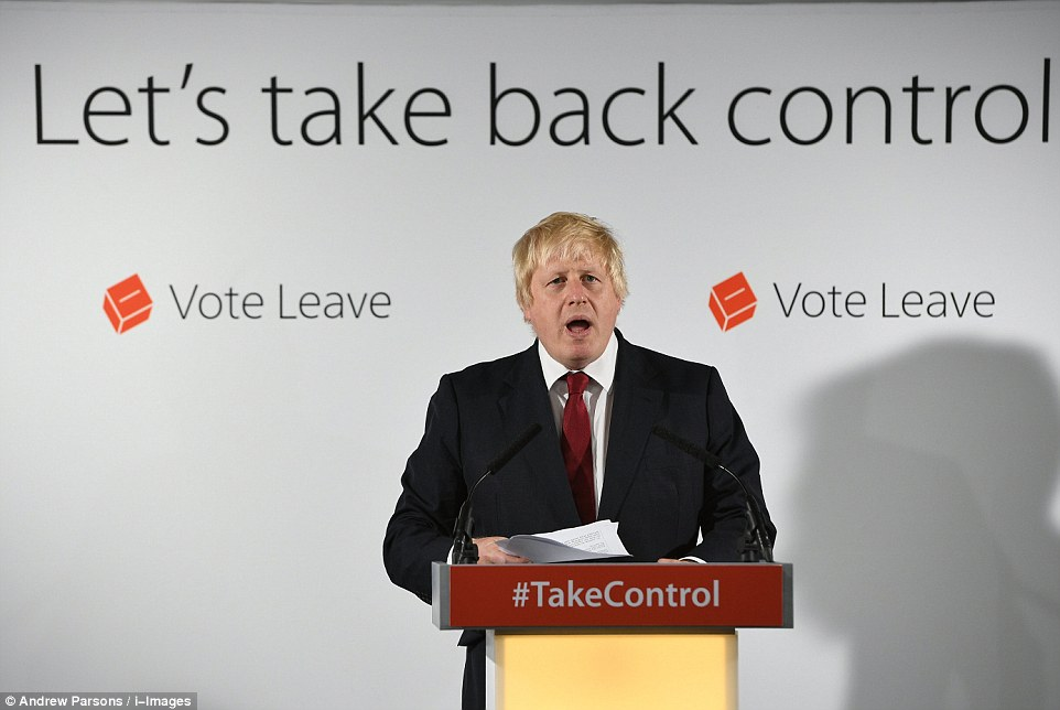 Boris Johnson stopped short of confirming that he would stand to succeed David Cameron today - but made a broad appeal to people stay calm and help forge a better future