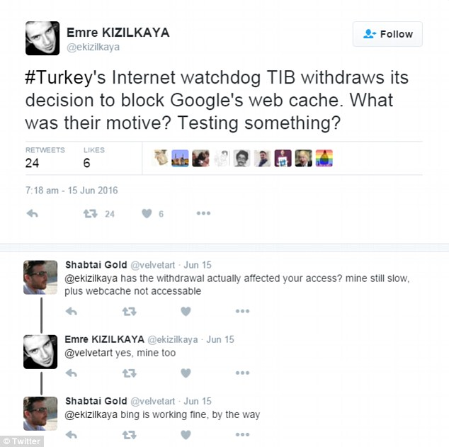 Internet users questioned Turkey's motive for trying to block Google's web cache which stores copies of banned material