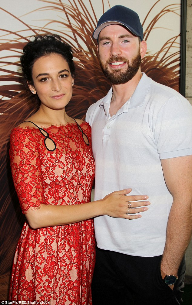 PDA! Jenny Slate put her hand on Chris Evans during the NYC premiere of The Secret Life Of Pets on Saturday