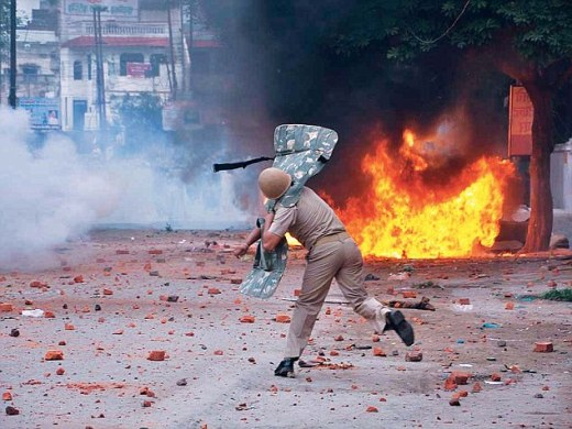 A riot in Uttar Pradesh's Saharanpur in 2014 (file picture). Such scenes have become horribly prevalent across India in recent years.
