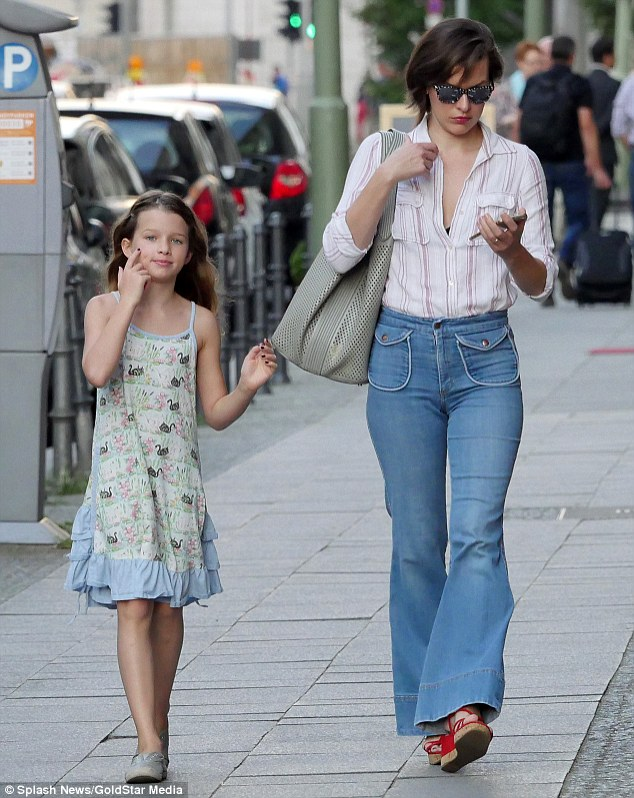 Milla Jovovich Shows Off Her 1970s Style In Bell Bottoms
